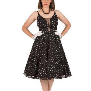 Pinup Polka Dot Sheila Dress by Tatyana